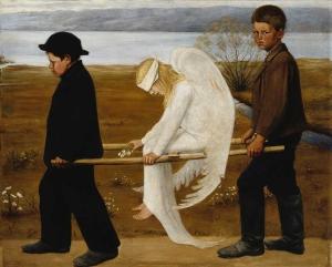 Hugo Simberg - Ranny anioł